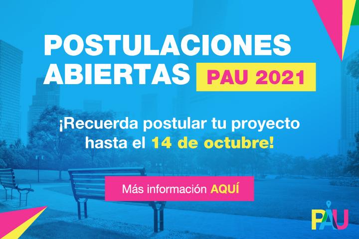 Banner: PAU - Postulaciones abiertas 720x480