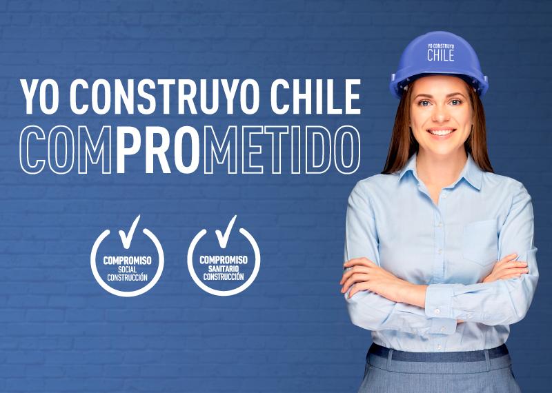 yo construyo chile comprometido mujer  banners