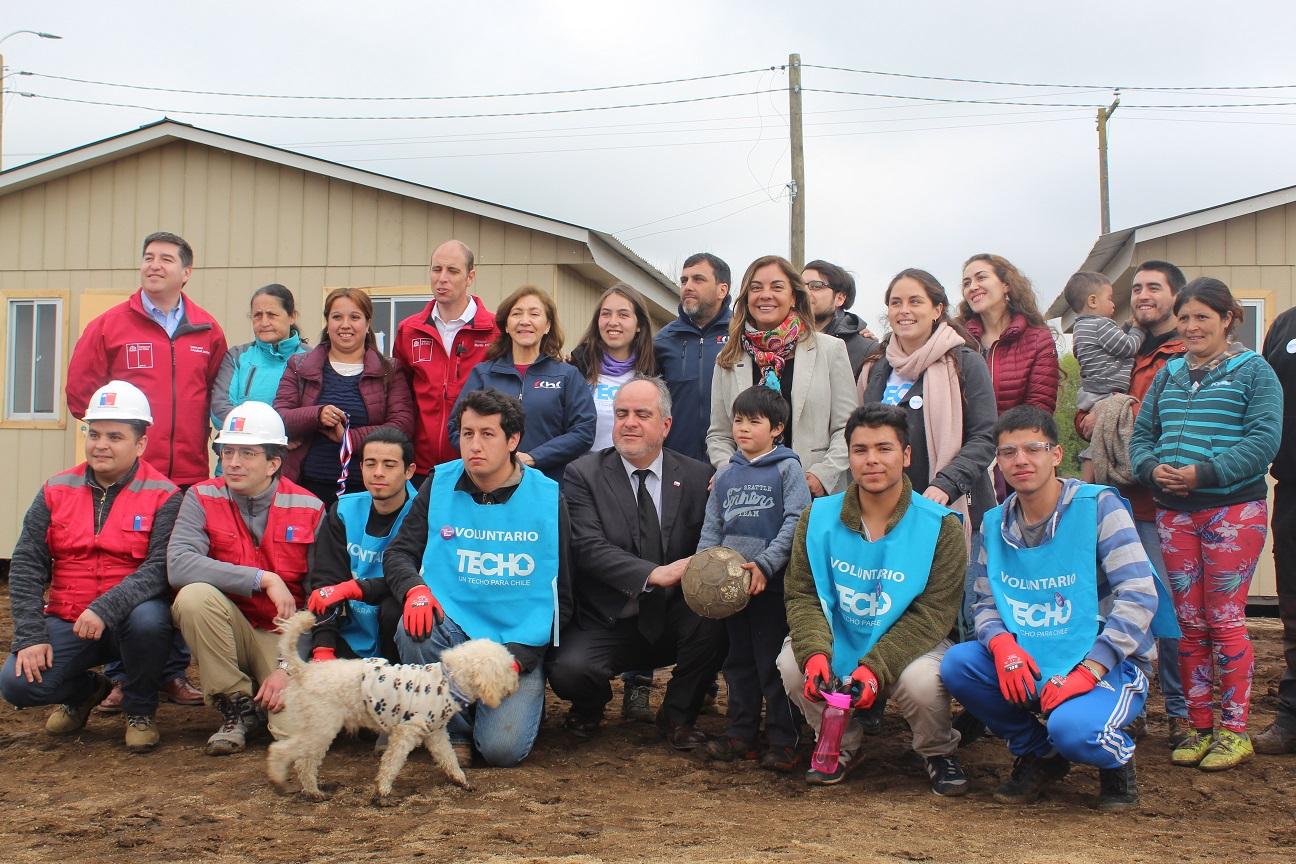 9 familias del ex campamento Oro Verde en Chillán inician nueva etapa en barrio transitorio noticias
