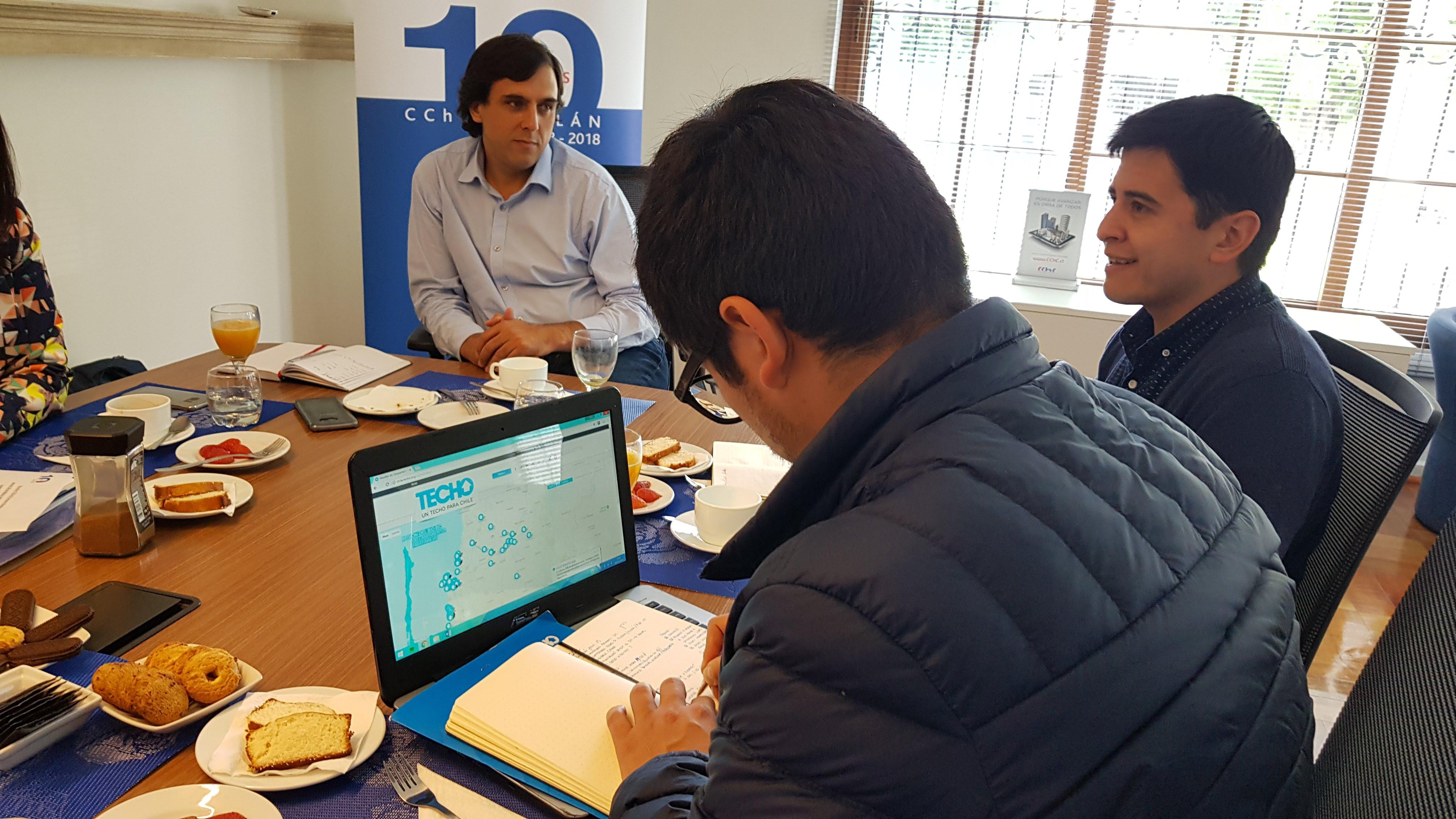 CChC Chillán y TECHO-Chile desarrollan mesa de trabajo tras convenio firmado por ambas instituciones noticias