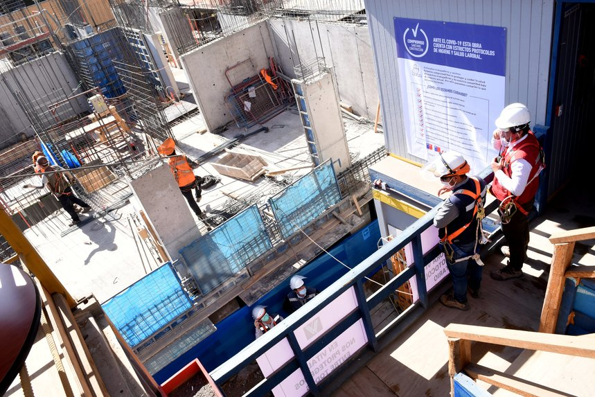 Construcción redujo tasa de accidentes del trabajo apoyado por medidas covid-19 noticias