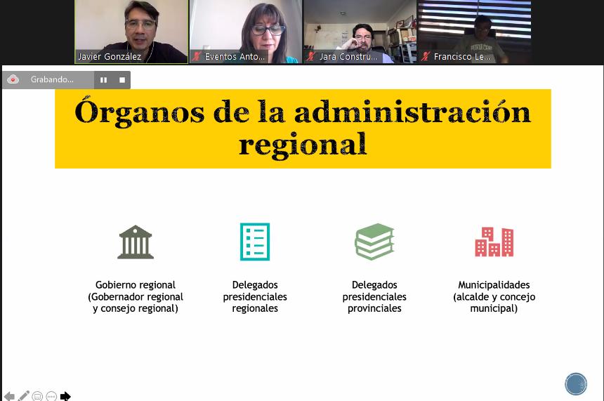En webinar jurídico abogado explicó funciones y atribuciones del Gobernador Regional  noticias