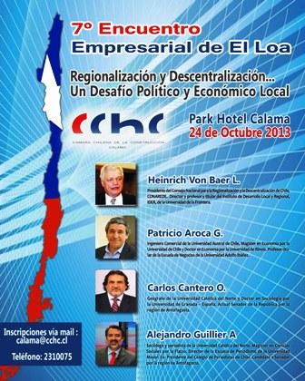 CChC abordará la regionalización y descentralización con autoridades y empresarios de El Loa noticias