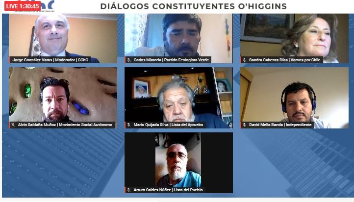 CONVERSATORIO CON CANDIDATOS A CONSTITUYENTES DE LA REGIÓN DE O´HIGGINS noticias