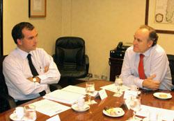 Diputado Ernesto Silva visita la CChC noticias