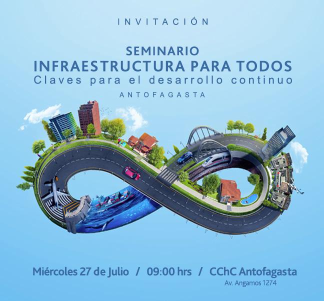 """En Antofagasta se realizará Seminario """"<mark>Infraestructura</mark> para Todos"""" noticias"""