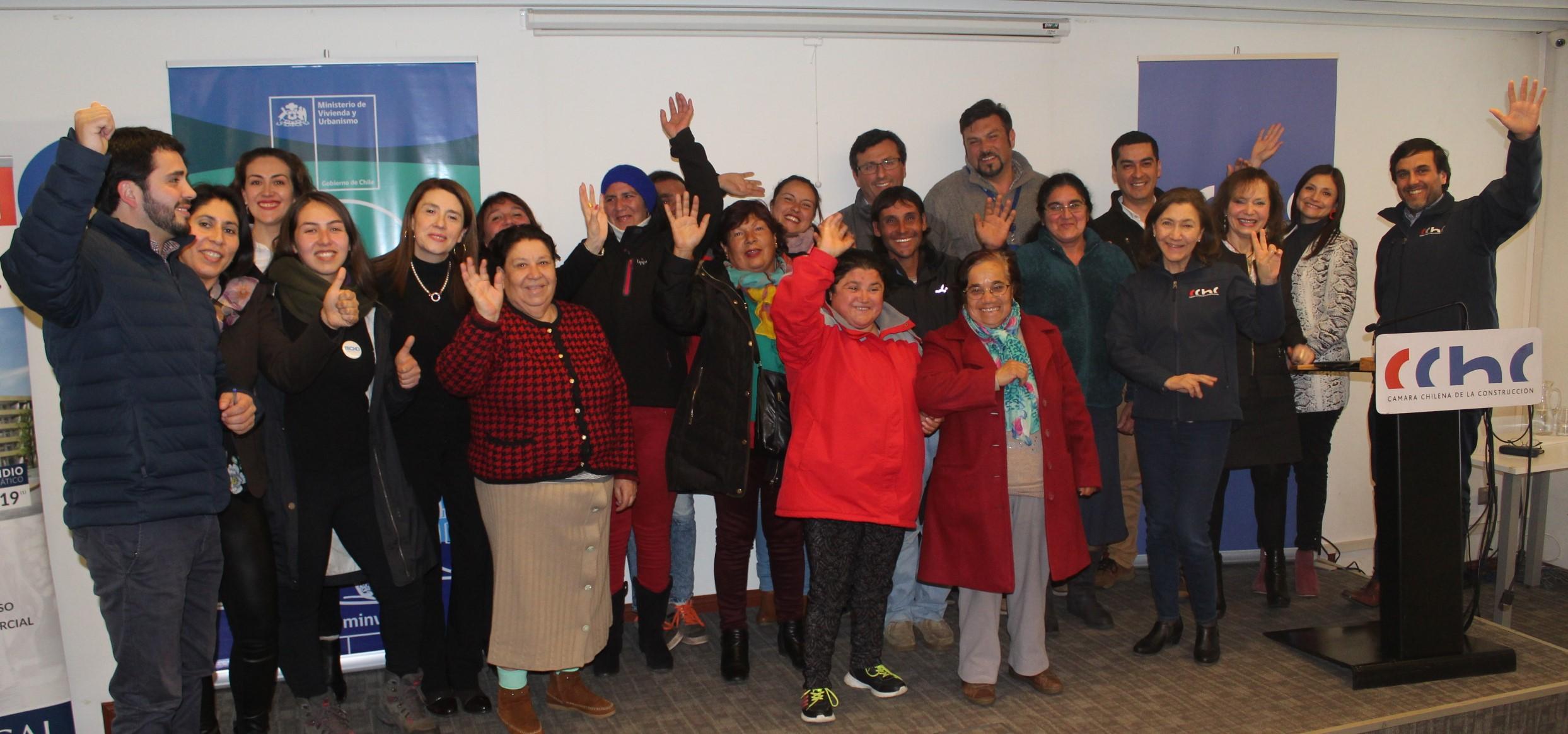 Familias de campamento Los Eucaliptus conocieron en CChC Chillán alternativas de vivienda noticias
