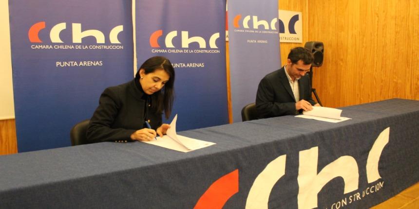 CChC Punta Arenas firma convenio de colaboración con Seremía de la Mujer y Sernameg noticias