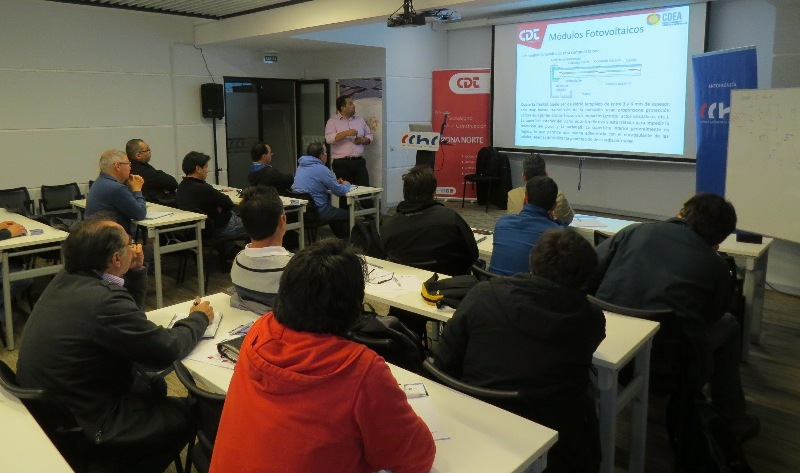 """Continúan los cursos para profesionales del """"Nodo Solar Antofagasta"""" noticias"""