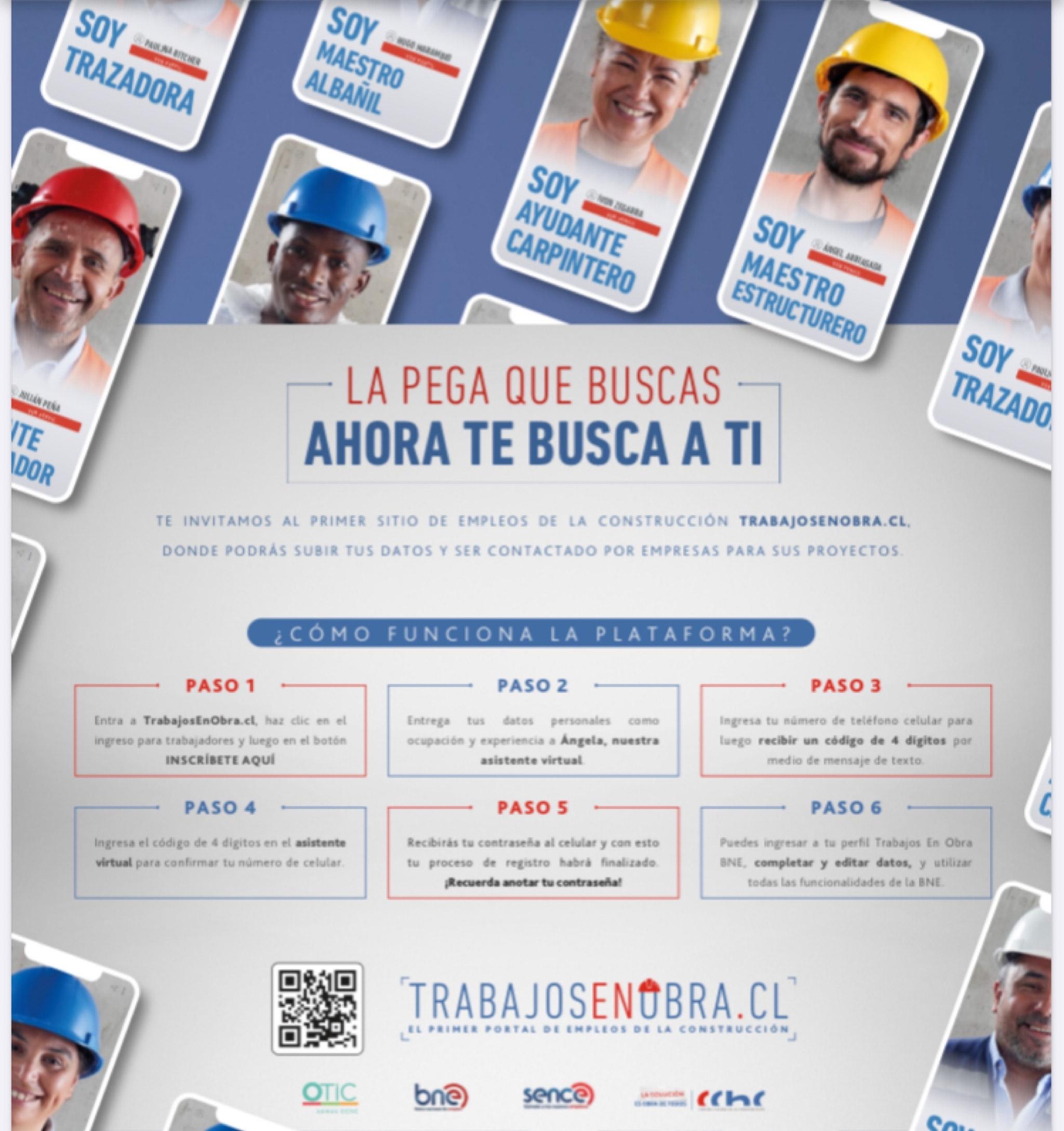 Portal Trabajos en Obra ya cuenta con 20.347 trabajadores inscritos y presenta ranking de los oficios más buscados en la Región  noticias