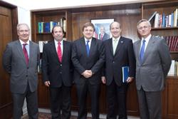 Autoridades CChC visitan a Ministro de Minería. noticias