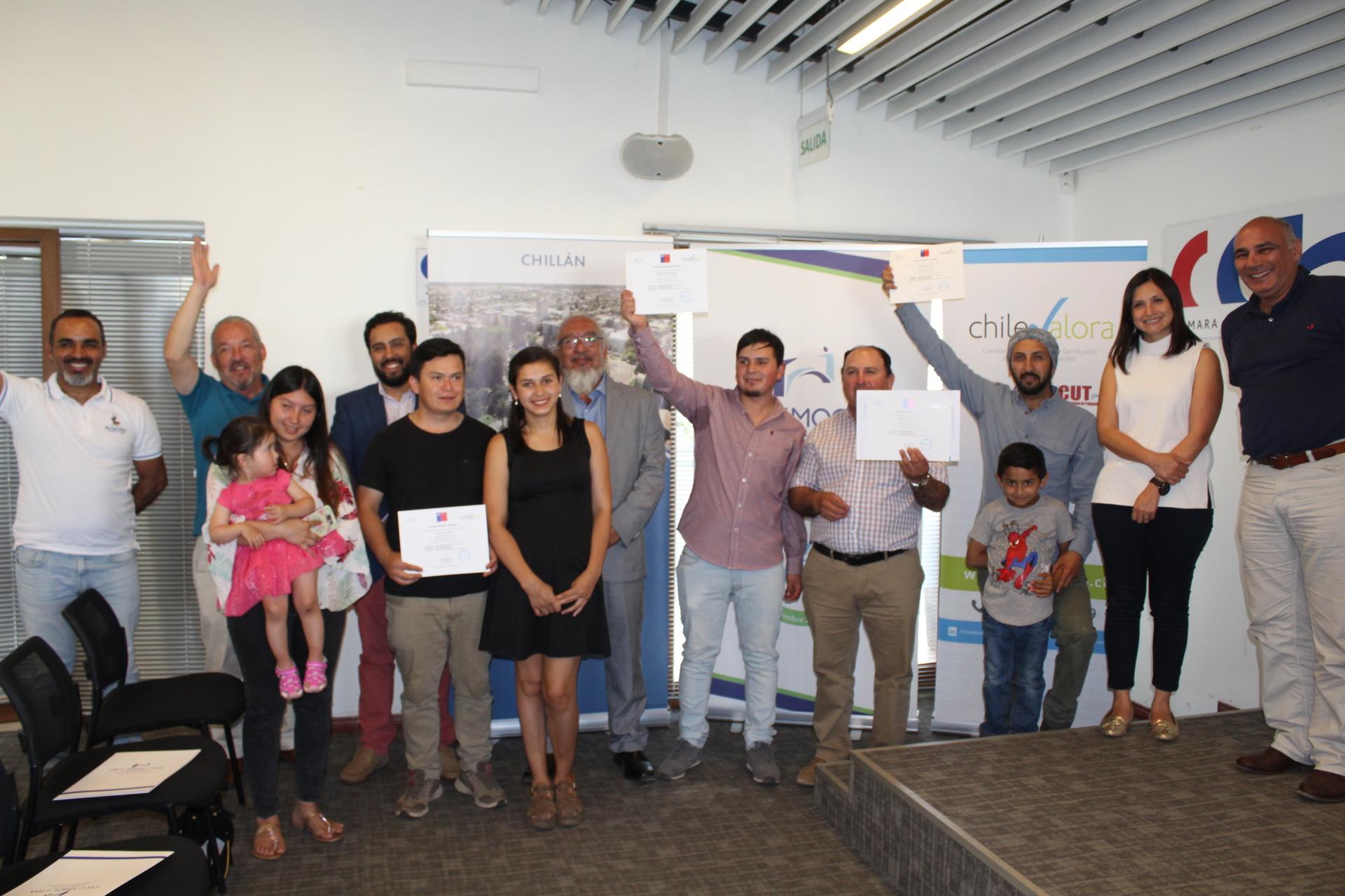 Ceremonia de certificación del Programa Social Escuela de Oficios se realizó en CChC Chillán noticias