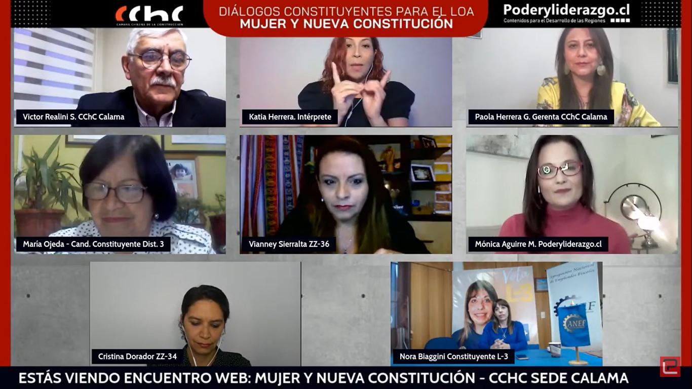 """Diálogos constituyentes finalizan con Conversatorio web: """"Mujer y Nueva Constitución"""" noticias"""