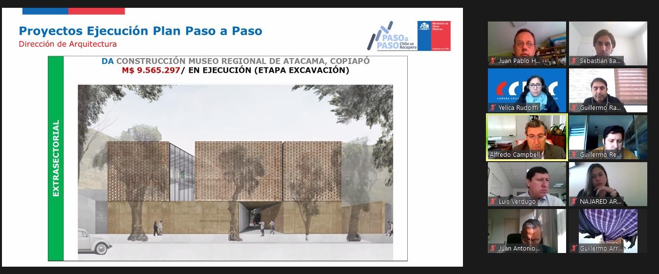 Seremi MOP Atacama presentó principales ejes del plan de reactivación a directivos de la CChC Copiapó noticias