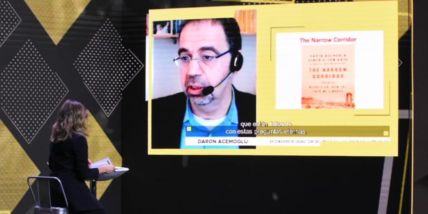Daron Acemoglu y Alfredo Zamudio se presentaron en la #SemanaDeLaConstrucción noticias