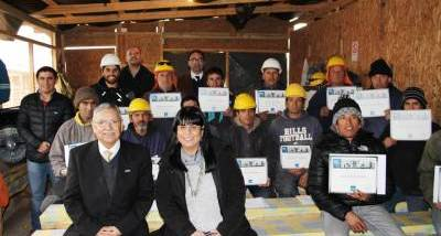 CChC Rancagua entrega certificación a trabajadores de empresa socia