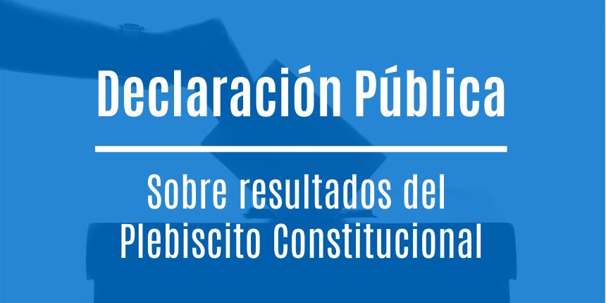 Declaración CChC tras resultados del Plebiscito Constitucional noticias