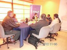 Presidente Comité de <mark>Infraestructura</mark> y socios, reciben a la empresa SK Ecología  noticias
