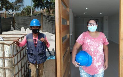 Los casos de 2 mujeres que la construcción les dio una segunda oportunidad en la vida noticias