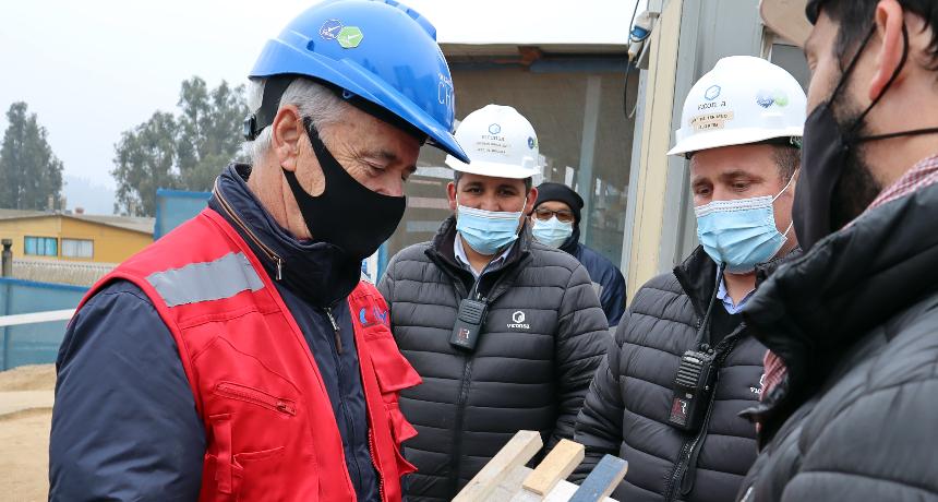 """Presidente CChC visita """"obra limpia"""" de empresa Viconsa noticias"""
