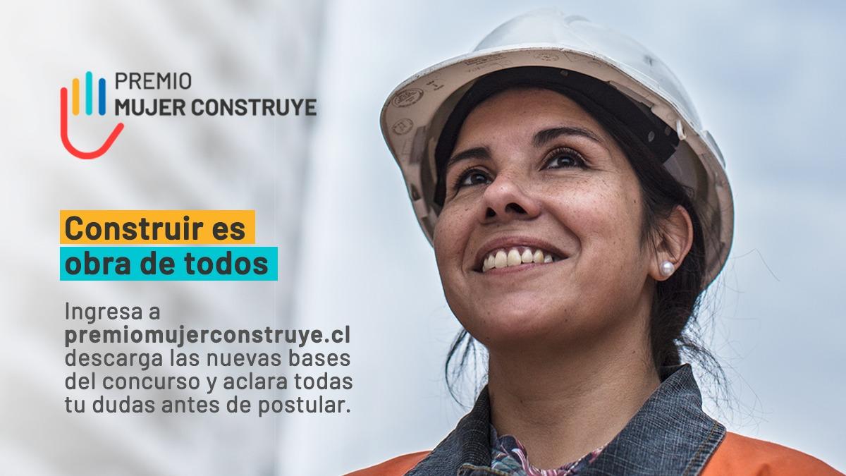 Hasta el 7 de abril: Se extiende plazo para postular al Premio Mujer Construye noticias