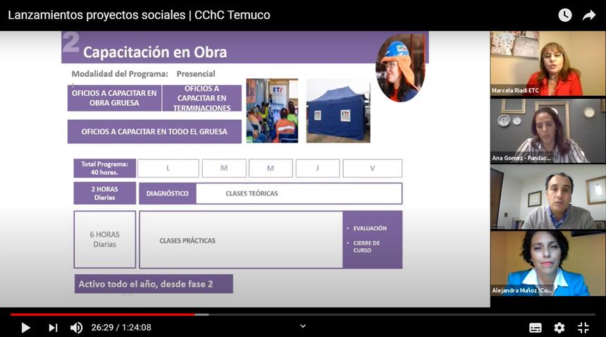 Socios conocieron la amplia oferta de programas sociales CChC para este año noticias