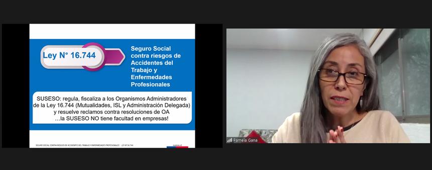 Intendenta de la SUSESO repasó criterios sobre enfermedades profesionales en Mesa Covid CChC noticias